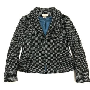 Nine West Dot Print Wool Blazer Style Jacket